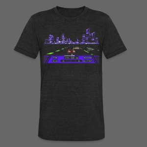 Rad Racer 8-Bit Detroit - Unisex Tri-Blend T-Shirt by American Apparel