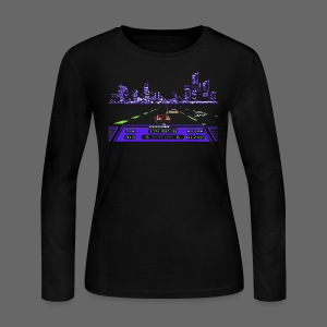 Rad Racer 8-Bit Detroit - Women's Long Sleeve Jersey T-Shirt