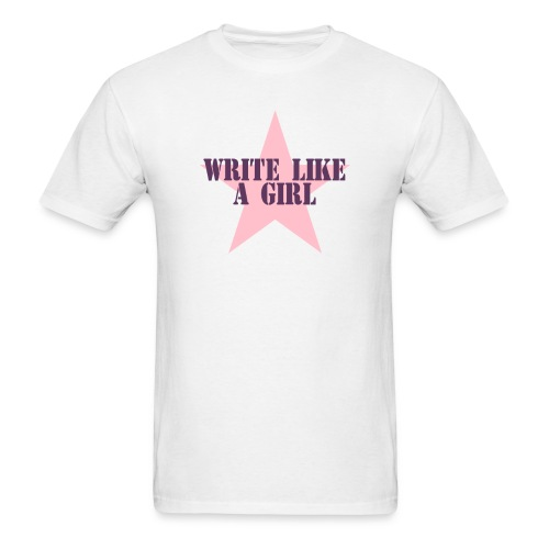 Write Like A Girl (Token Man's Shirt) - Men's T-Shirt