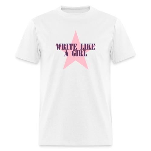 Write Like A Girl (Token Man's Shirt) - Men's T-Shirt