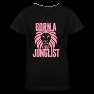 Women's T-Shirts ~ Women's V-Neck T-Shirt ~ Born A Junglist Ladies V Neck