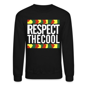 Respect The Cool White Logo Mens Crewneck - Crewneck Sweatshirt