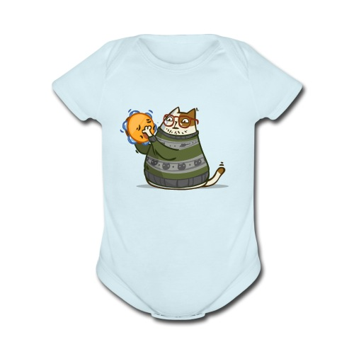 Friday Cat №14 - Organic Short Sleeve Baby Bodysuit