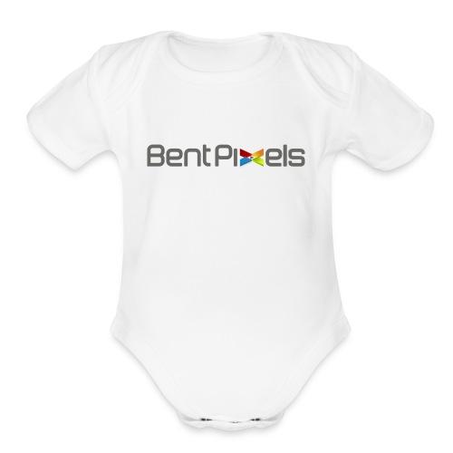 Baby   - gray lettering - Organic Short Sleeve Baby Bodysuit