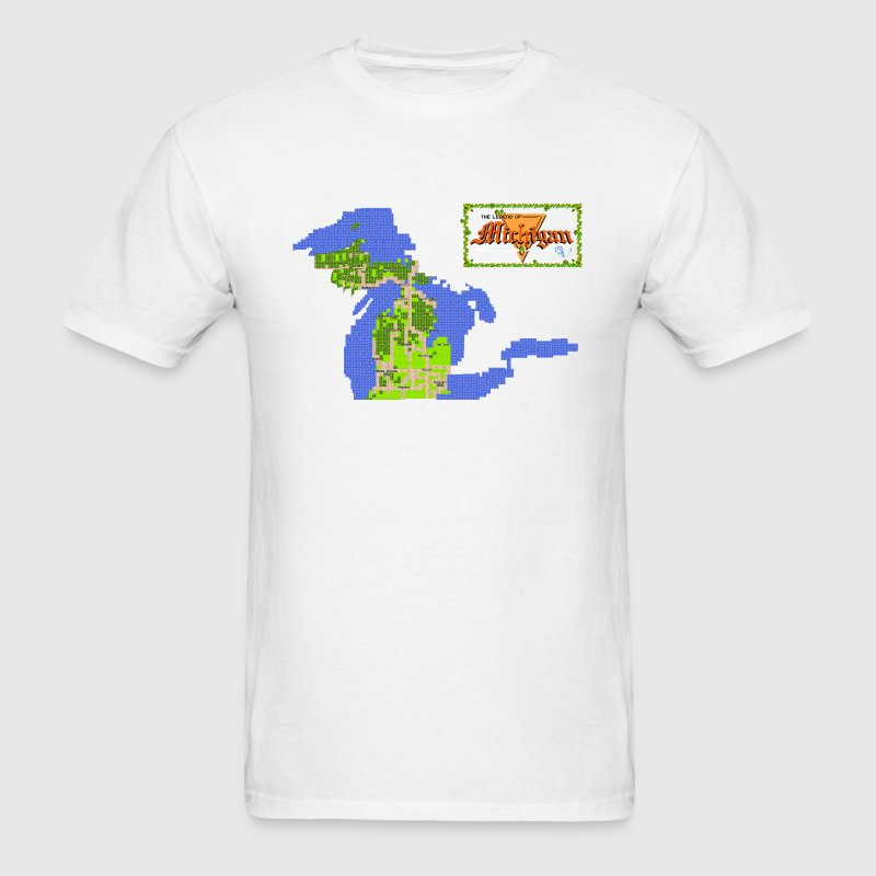 Classic Legend of Michigan 8bit T-Shirts - Men's T-Shirt
