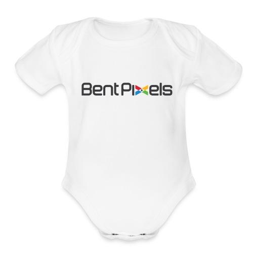 Baby   - black lettering - Organic Short Sleeve Baby Bodysuit