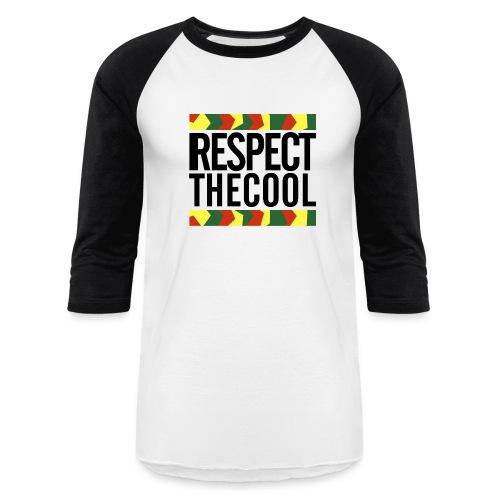 Respect The Cool Mens Baseball T-Shirt - Baseball T-Shirt
