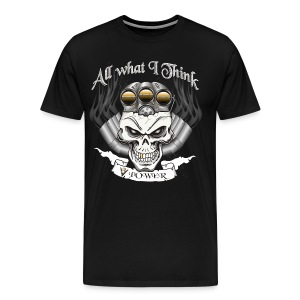 V8 Engine Skull with Blower - Men's Premium T-Shirt