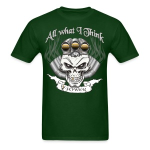 V8 Engine Skull with Blower - Men's T-Shirt