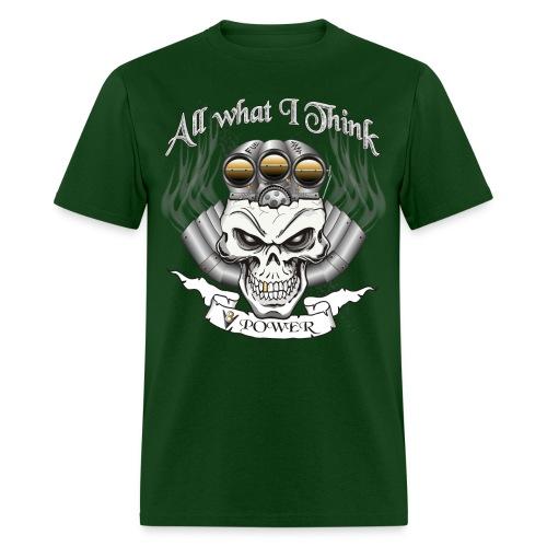 V8 Engine Skull with Blower - Men's T-Shirt
