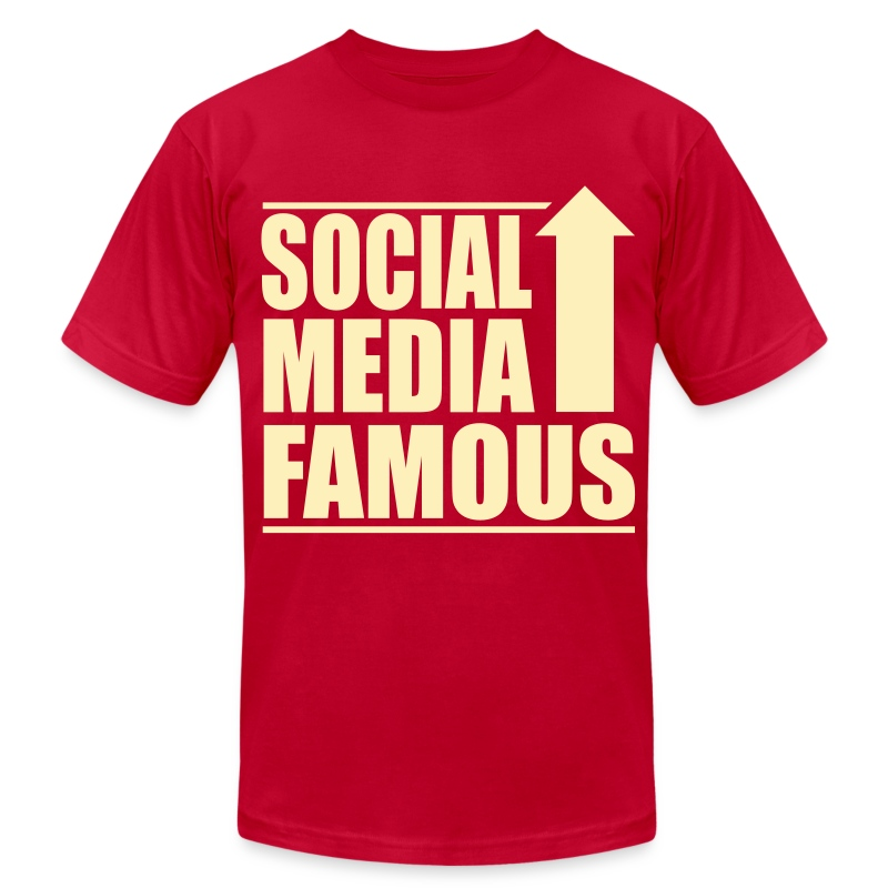Social Media Famous Mens - Men's T-Shirt by American Apparel