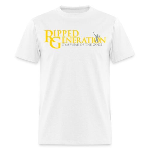 Ripped Generation Logo T-Shirt Gold - Men's T-Shirt