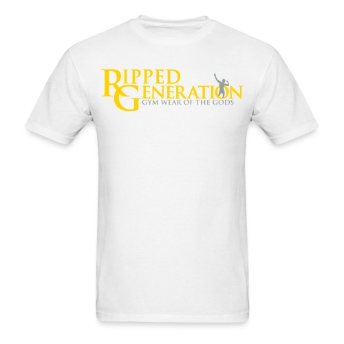 Ripped Generation Logo T-Shirt Gold - Men's T-Shirt