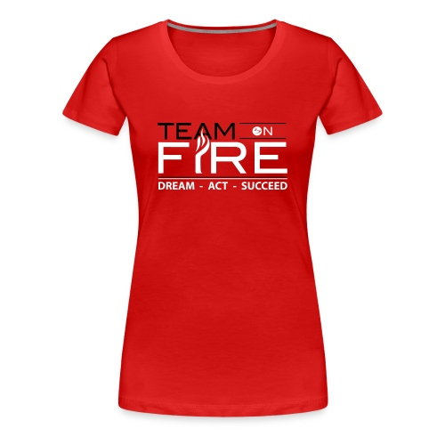 TOF Women's Fitted Classic T-Shirt - RED - Women's Premium T-Shirt