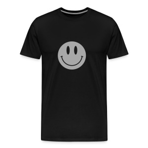 Smiley Silver Gliz Shirt - Men's Premium T-Shirt