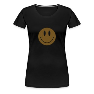 Smiley Gold Gliz Shirt - Women's Premium T-Shirt
