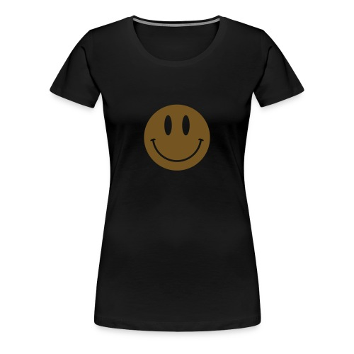 Smiley Gold Gliz Shirt - Women's Premium T-Shirt