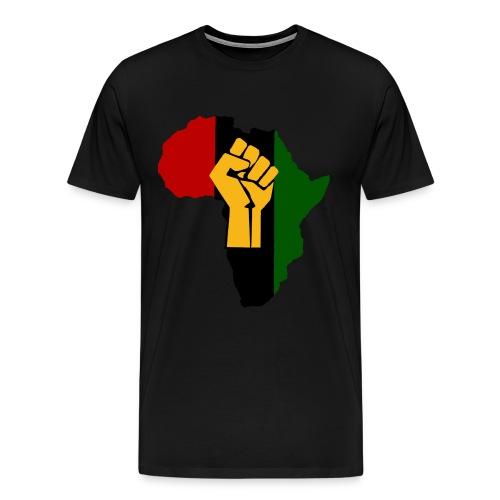 Africa Black Fist RISE Shirt (RBG) - Men's Premium T-Shirt