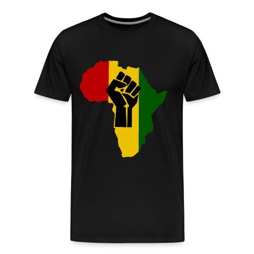 Africa Black Fist RISE Shirt - Men's Premium T-Shirt