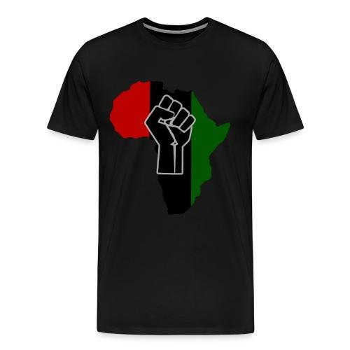 Africa Black Fist RISE Shirt (RBG Black Fist) - Men's Premium T-Shirt