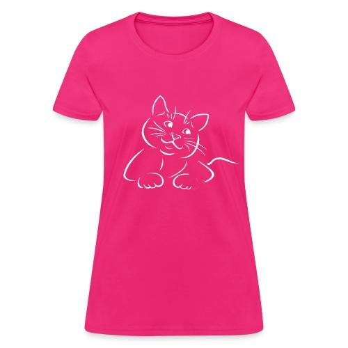 Cat T-Shirt - Cute Cat Woman's T-Shirt - Women's T-Shirt