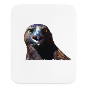 Screeching Juvenile Bald Eagle - Mouse pad Vertical