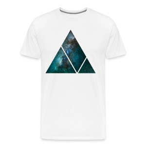 Milky Way Triangle - WHITE - Men's Premium T-Shirt