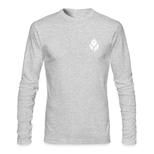 Male Silver Sweater - Men's Long Sleeve T-Shirt by Next Level