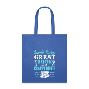 Inside Every Book - Blue Tote - Tote Bag