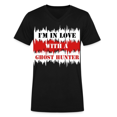 I'M IN LOVE WITH A GHOST HUNTER - Men's V-Neck T-Shirt by Canvas