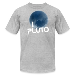 I Heart Pluto shirt - Men's T-Shirt by American Apparel