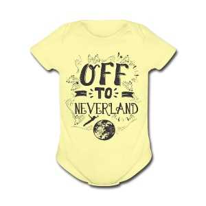 Off to Neverland   - Short Sleeve Baby Bodysuit