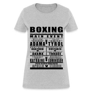 Battlestar Boxing Card Womens - Women's T-Shirt