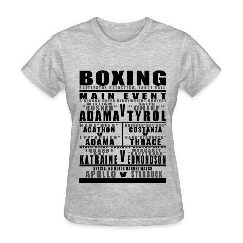 Battlestar Boxing Card Womens - Women's T-Shirt