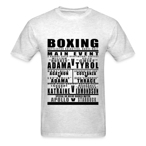 Battlestar Boxing Card Mens - Men's T-Shirt