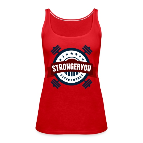 Women's StrongerYou Performance Team Tank- Red - Women's Premium Tank Top