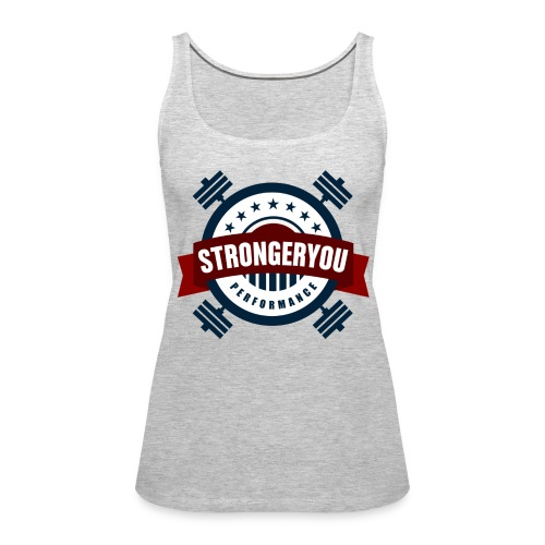 Women's StrongerYou Performance Team Tank- Grey - Women's Premium Tank Top