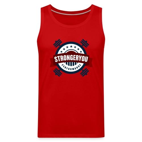 Men's StrongerYou Performance Team Tank- Red - Men's Premium Tank