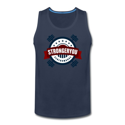Men's StrongerYou Performance Team TeeTank- Blue - Men's Premium Tank