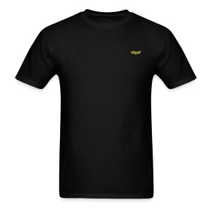 Small Gold IDGAF Tshirt - Men's T-Shirt