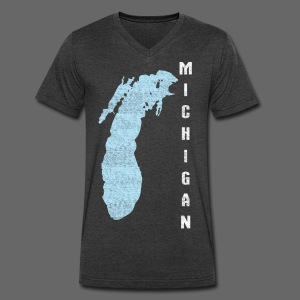 Just Lake Michigan - Men's V-Neck T-Shirt by Canvas