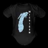 Baby & Toddler Shirts ~ Baby Short Sleeve One Piece ~ Just Lake Michigan