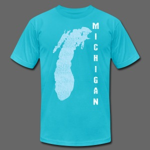 Just Lake Michigan - Men's T-Shirt by American Apparel
