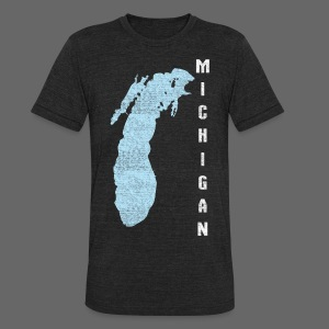 Just Lake Michigan - Unisex Tri-Blend T-Shirt by American Apparel