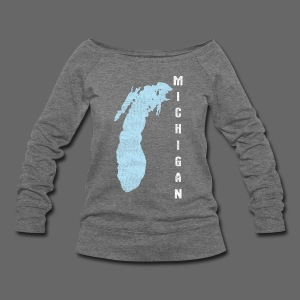 Just Lake Michigan - Women's Wideneck Sweatshirt