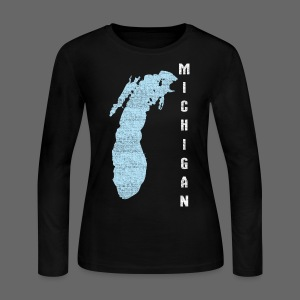 Just Lake Michigan - Women's Long Sleeve Jersey T-Shirt