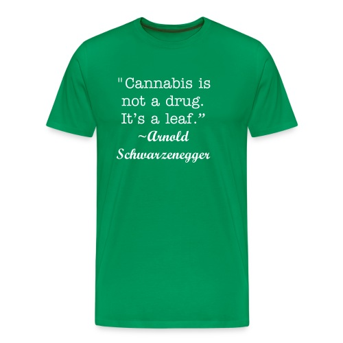 Schwarzengger on Cannabis - Men's Premium T-Shirt