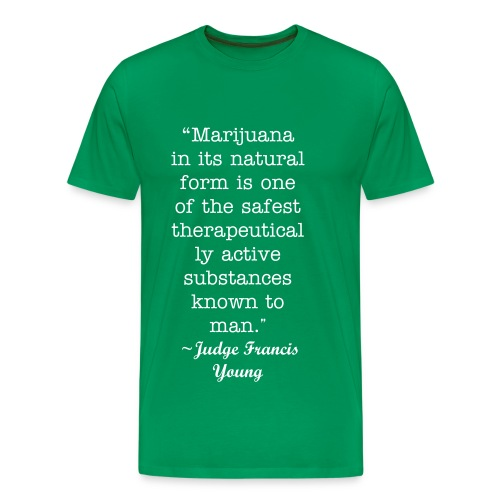 Judge Francis Young Quote - Men's Premium T-Shirt