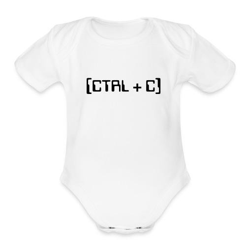CTRL + C (Copy) Baby   For Twins - Organic Short Sleeve Baby Bodysuit