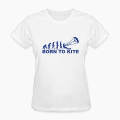 Evolution Born to Kite Women's T-Shirts